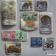 Sellos: LOTE DE 9 SELLO DE CHECOSLOVAQUIA , EPOCA COMUNISTA.. Lote 156684106