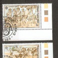Sellos: CHIPRE.1989. EUROPA/JUEGOS/ NIÑOS. Lote 156705554