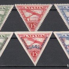 Sellos: LETONIA. 1931-31 YVERT Nº 8 / 9A, 10 / 12 **/* . Lote 159891314