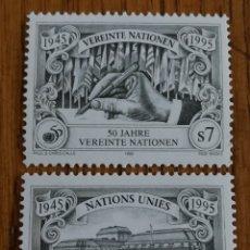 Sellos: NACIONES UNIDAS, ONU:50 ANIVERSARIO DE LA ONU, MNH. Lote 161128428