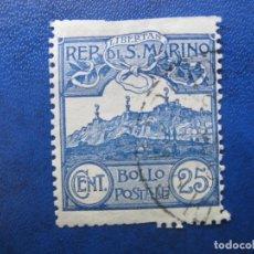 Sellos: SAN MARINO, 1903 YVERT 38. Lote 161449050