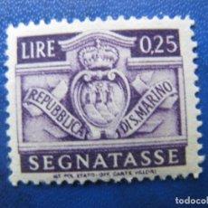 Sellos: SAN MARINO, 1945 SELLO DE TASA, YVERT 67. Lote 161453586