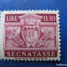 Sellos: SAN MARINO, 1945 SELLO DE TASA, YVERT 68. Lote 161453714