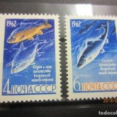 Sellos: UNION SOVIETICA 2 VALORES 1962 NUEVO. Lote 162476754