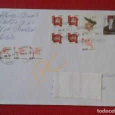 Sellos: SOBRE CARTA CIRCULADO ENTRE LITUANIA Y ESPAÑA 2019 CON SELLOS WITH STAMPS LIETUVA TO SPAIN VER FOTOS. Lote 163819530