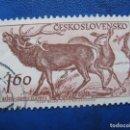 Sellos: CHECOSLOVAQUIA, 1959 PARQUENACIONAL DE TATRA, CIERVOS, YVERT 1041. Lote 164852338