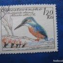 Sellos: CHECOSLOVAQUIA, 1959 AVES, MARTIN PESCADOR, YVERT 1052. Lote 164852522