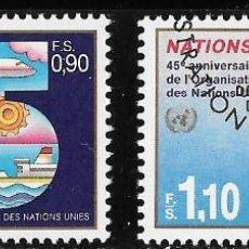 Sellos: ONU. SEDE GINEBRA 1990. 45º ANIVERSARIO NACIONES UNIDAS. USADO. Lote 167598892