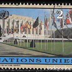 Sellos: ONU. SEDE GINEBRA 1998. PALACIO DE LAS NACIONES. USADO. Lote 167599284