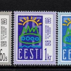 Sellos: ESTONIA 213/16** - AÑO 1993 - 75º ANIVERSARIO DE LA REPUBLICA. Lote 168481944