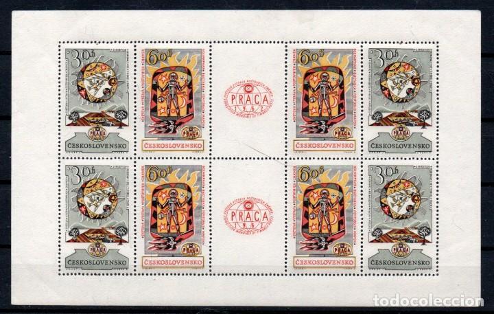 CHECOSLOVAQUIA AÑO 1962 YV HB 22*** EXPOSICIÓN FILATÉLICA DE PRAGA (Sellos - Extranjero - Europa - Otros paises)