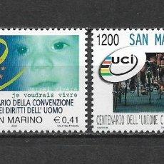 Selos: SAN MARINO 2000 ** NUEVO - 6/10. Lote 169178180