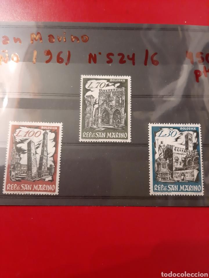 1961 SAN MARINO N 524/6 MONUMENTOS (Sellos - Extranjero - Europa - Otros paises)