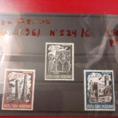 Sellos: 1961 SAN MARINO N 524/6 MONUMENTOS. Lote 169688749