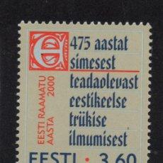 Sellos: ESTONIA 359** - AÑO 2000 - AÑO DEL LIBRO. Lote 170954062