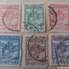 Sellos: EPIRO AUTÓNOMO. 1914? SERIE 6 VALORES.. Lote 171236762