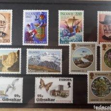 Sellos: SELLOS DE EUROPA AÑO 1980 Y 86 DE ISLANDIA GUERNSEY GIBRALTAR LOT.N.870. Lote 172259659