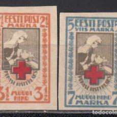 Sellos: ESTONIA, 1921 YVERT Nº 47 / 48, /*/. Lote 172357818