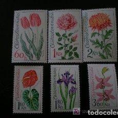 Sellos: CHECOSLOVAQUIA 1973 IVERT 1993/8 *** EXPOSICIÓN FLORAL DE OLOMOUC - FLORA - FLORES DIVERSAS. Lote 172549503