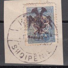 Sellos: ALBANIA, ADMINISTRACIÓN AUTÓNOMA, 1913 YVERT Nº 7. Lote 176137140