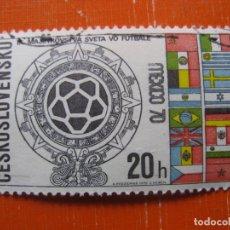 Sellos: CHECOSLOVAQUIA 1970, MUNDIAL DE FUTBOL DE MEXICO, YVERT 1802. Lote 176342775