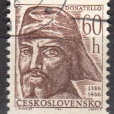 Sellos: CHECOSLOVAQUIA - UN SELLO - IVERT:#CS-1465 - **DONATELLO - ESCULTOR ITALIANO***- AÑO 1966 - USADO. Lote 176532878
