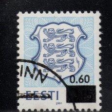 Sellos: ESTONIA 217 - AÑO 1992 - ESCUDO NACIONAL. Lote 278430773