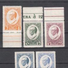 Sellos: LETONIA, 1928 YVERT Nº 149 / 153 /**/, SIN FIJASELLOS, . Lote 177621314