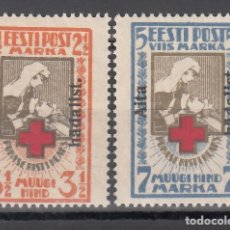 Sellos: ESTONIA, 1923 YVERT Nº 67 B / 68 B /*/. Lote 177622373