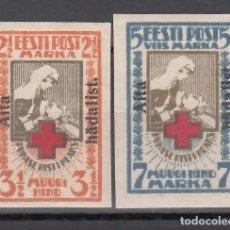Sellos: ESTONIA, 1923 YVERT Nº 67A / 68 A /*/, SIN DENTAR.. Lote 177622400