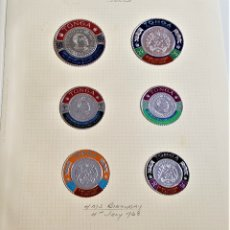 Sellos: 1968 TONGA SILVER FOIL COLECCION SET DE SELLOS DE PLATA. Lote 177720455