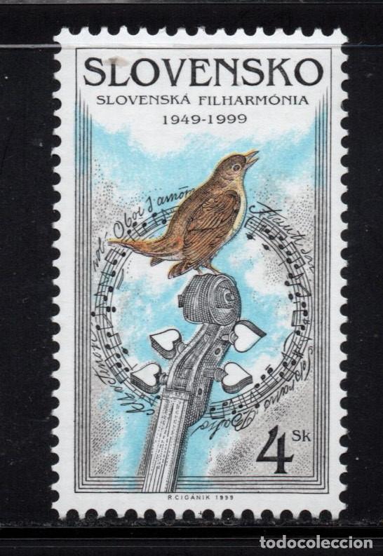 ESLOVAQUIA 298** - AÑO 1999 - FAUNA - AVES - 50º ANIVERSARIO DE LA ORQUESTA FILARMONICA ESLOVACA (Sellos - Extranjero - Europa - Otros paises)