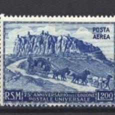 Sellos: SAN MARINO 1949-51 YVERT Nº 342, AÉREO Nº 73A, 73B, /**/ 75 ANIVERSARIO DE LA UPU, SIN FIJASELLOS. . Lote 179026385