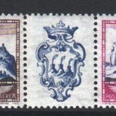 Sellos: SAN MARINO 1958 YVERT Nº 108 / 109, IMAGEN DE SAN MARINO, MONTE TITANO. SIN FIJASELLOS. . Lote 179026565