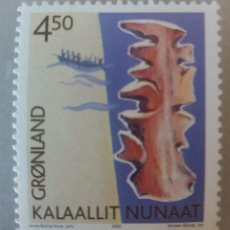Sellos: GROENLANDIA/KALAALLIT NUNAAT/DINAMARCA/GRONLAND/GREENDLAND-1 SELLO- 2000- ANNE BIRTHE HOVE . Lote 179388990