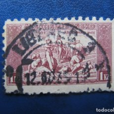 Sellos: -CHECOSLOVAQUIA 1934, CENTENARIO HIMNO NACIONAL, YVERT 290. Lote 180162402