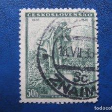 Sellos: -CHECOSLOVAQUIA 1936, CENT.MUERTE DE K.H.MACHA, YVERT 306. Lote 180163322