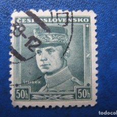 Sellos: -CHECOSLOVAQUIA 1939, GENERAL STEFANIK, YVERT 345. Lote 180164965