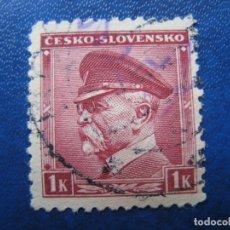 Sellos: -CHECOSLOVAQUIA 1939, MASARYK, YVERT 355. Lote 180165123