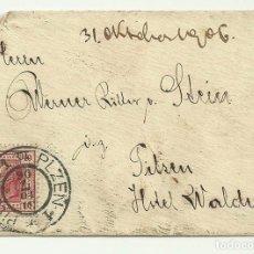 Sellos: 1906, PILSEN. SOBRE CON SELLO Y LACRE EN EL REVERSO. Lote 180293156