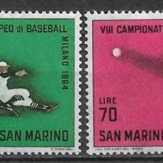 Selos: SAN MARINO 1964 ** SERIE COMPLETA DEPORTES BEISBOL - 7/39. Lote 182684586