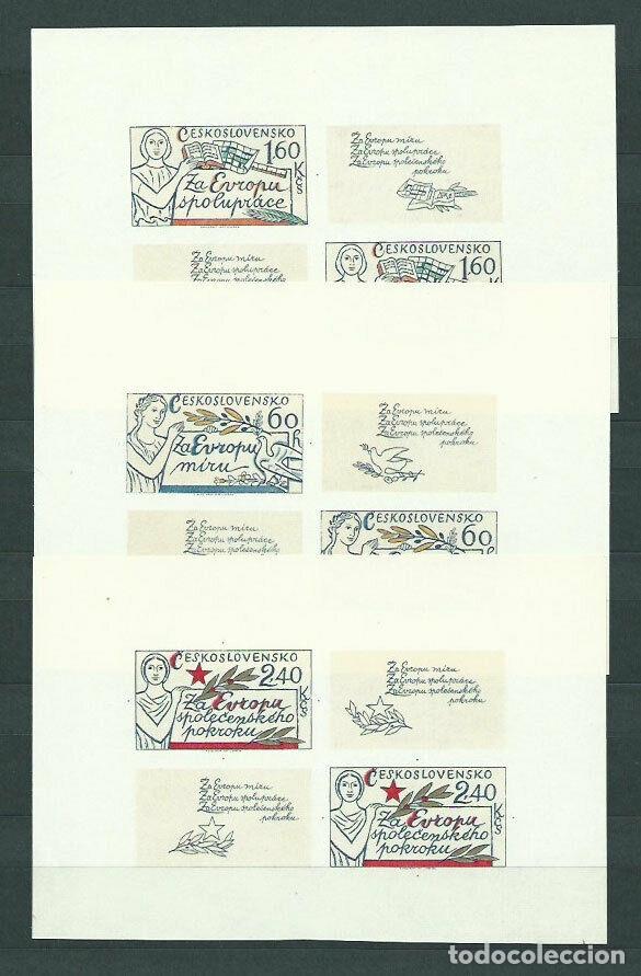 CHECOSLOVAQUIA 1977 HB IVERT 40/42 *** CONFERENCIA SOBRE COOPERACIÓN Y SEGURIDAD EN EUROPA (Sellos - Extranjero - Europa - Otros paises)