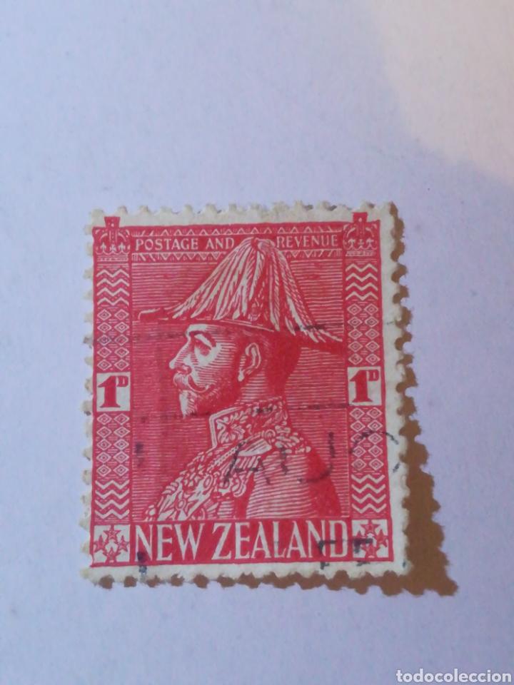 SELLO NEW ZEALAND 1D (Sellos - Extranjero - Europa - Otros paises)