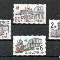 Sellos: CHECOSLOVAQUIA 1978 IVERT 2289/92 *** EXPOSICIÓN FILATELICA INTERNACIONAL (VIII) PRAGA - MONUMENTOS. Lote 184714960