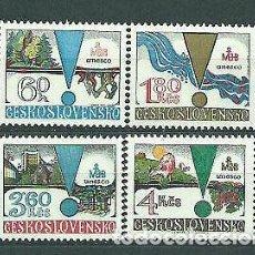 Sellos: CHECOSLOVAQUIA 1979 IVERT 2340/3 *** UNESCO - EL HOMBRE Y LA BIOSFERA. Lote 185902208