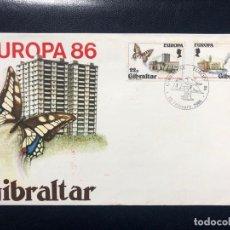 Sellos: SOBRE DE PRIMER DÍA SERIE EUROPA GIBRALTAR 1986. Lote 189526218