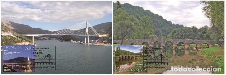 CROATIA 2018 - EUROPA 2018 - BRIDGES MAXIMUM CARD SET (Sellos - Extranjero - Europa - Otros paises)