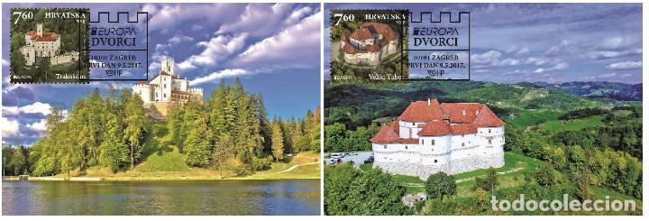 CROATIA 2017 - EUROPA 2017 - CASTLES MAXIMUM CARD SET (Sellos - Extranjero - Europa - Otros paises)