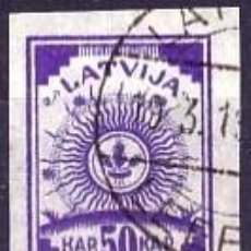 Sellos: SELLO USADO DE LETONIA, YT 15. Lote 194296995