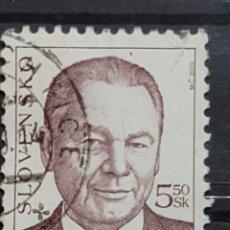 Sellos: ESLOVAQUIA_SELLO USADO_RUDOLF SCHUSTER PRESIDENTE ESLOVAQUIA_YT-SK 324 AÑO 2000 LOTE 7634. Lote 194618970
